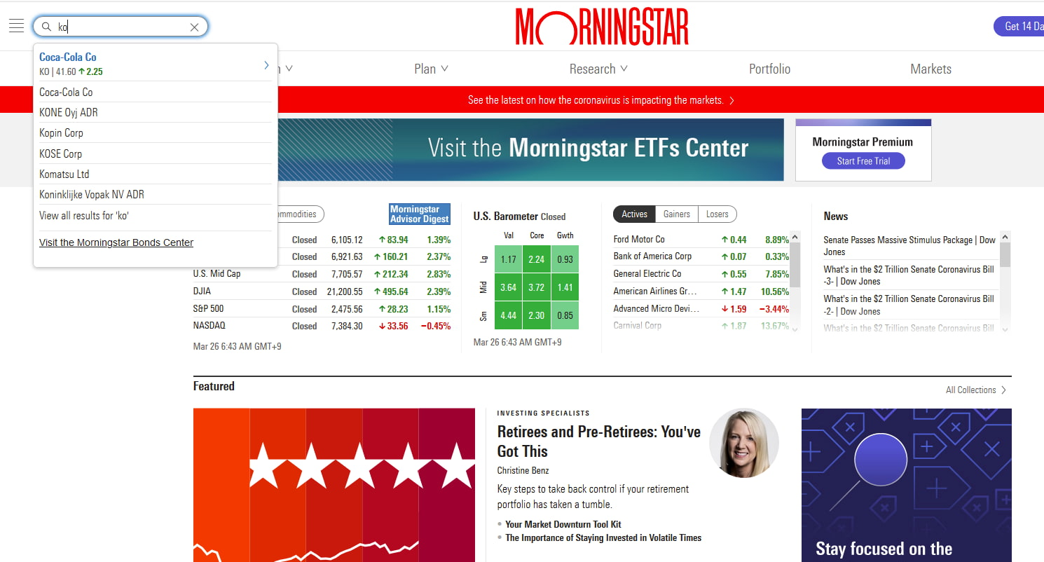 Dividend.comを使った米国株の配当月の調べ方